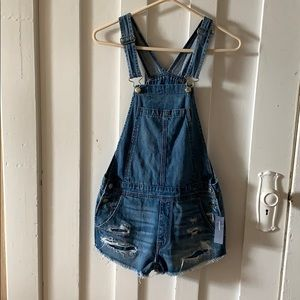 NWT American Eagle short overalls